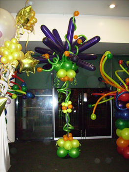 funky balloon column